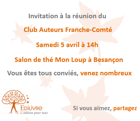 Rencontre_Club_Auteurs_Franche_Comté_Edilivre