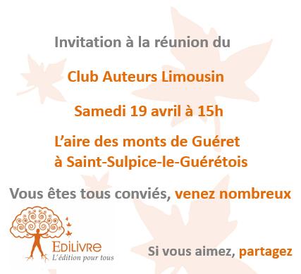 Rencontre_Club_Auteurs_Limousin_Edilivre