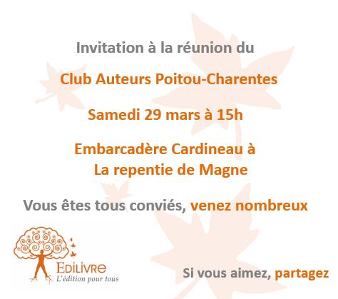Rencontre_Club_Auteurs_Poitou_Charentes_Edilivre