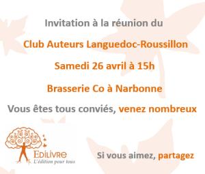 Rencontre_Club_Auteurs_Languedoc-Roussillon_Edilivre