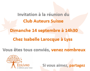 Rencontre_Club_Auteurs_Suisse_Edilivre