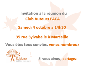 Rencontre_Club_AuteursPACA_Edilivre