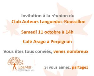 Rencontre_Club_Auteurs_Languedoc_Roussillon_Edilivre