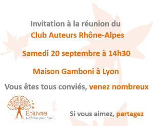 Rencontre_Club_Auteurs_Rhône_Alpes_Edilivre