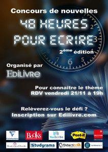 Affiche_48_heures_pour_écrire_2ème_édition_Edilivre