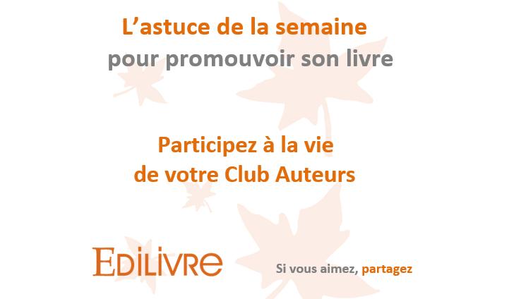 Partipez à la vie de votre Club Auteurs WP