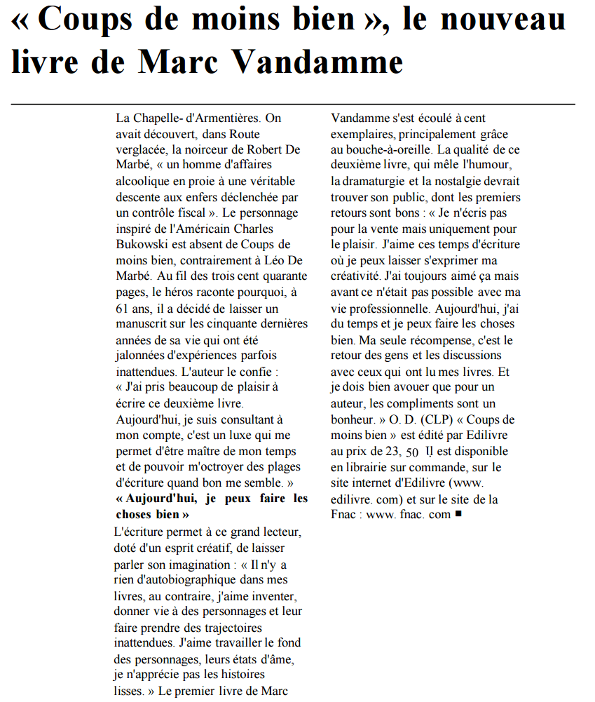 article_LaVoixduNord_MarcVandamme