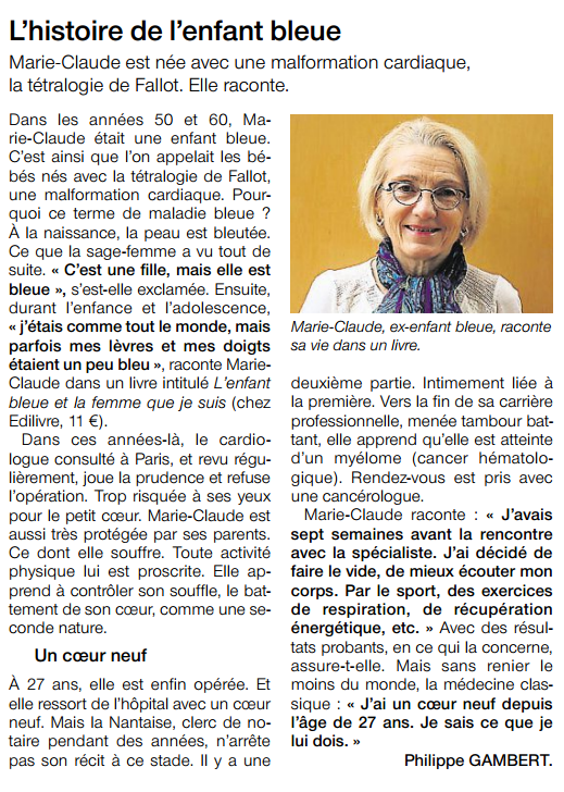 article_OuestFrance_Marie Claude