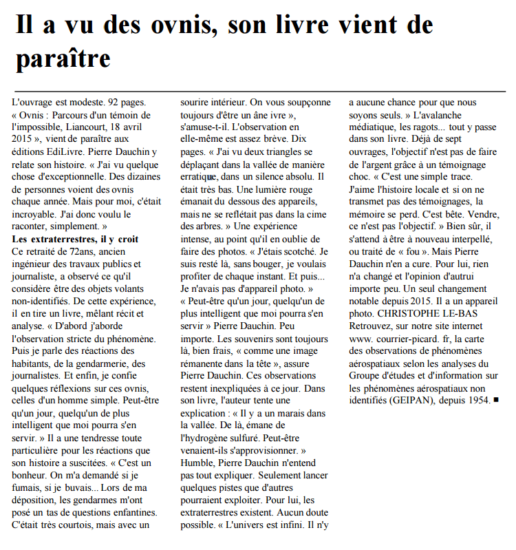 ovni courrier picard