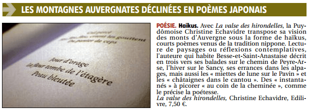 article_La_Montagne_Christine_Echavidre_2018_Edilivre