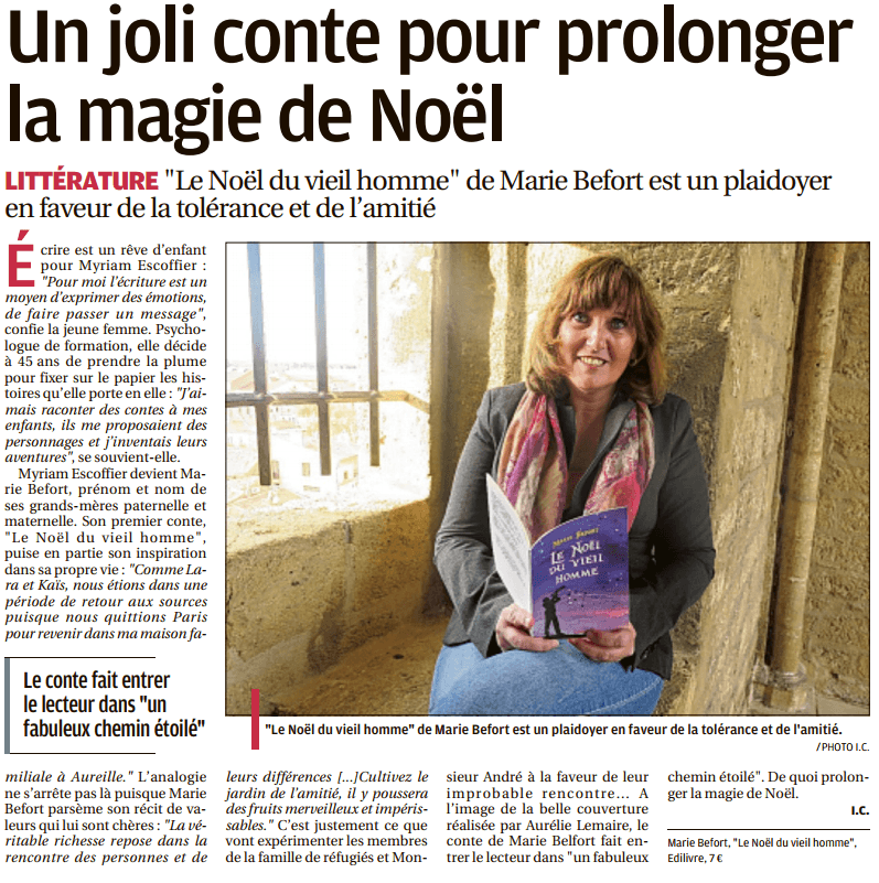 article_La_Provence_Marie_Befort_2017_Edilivre