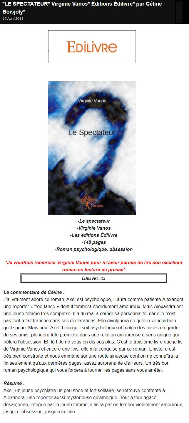 4b4d2029dbf8a7 article Les Milles et une page de LM Virginie Vanos