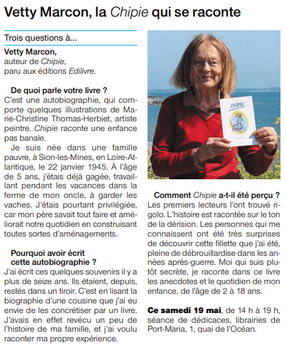 article_Ouest_France_Vetty_Marcon_2018_Edilivre