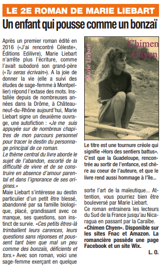 article_La_Tribune_Marie_Liebart_2018_Edilivre