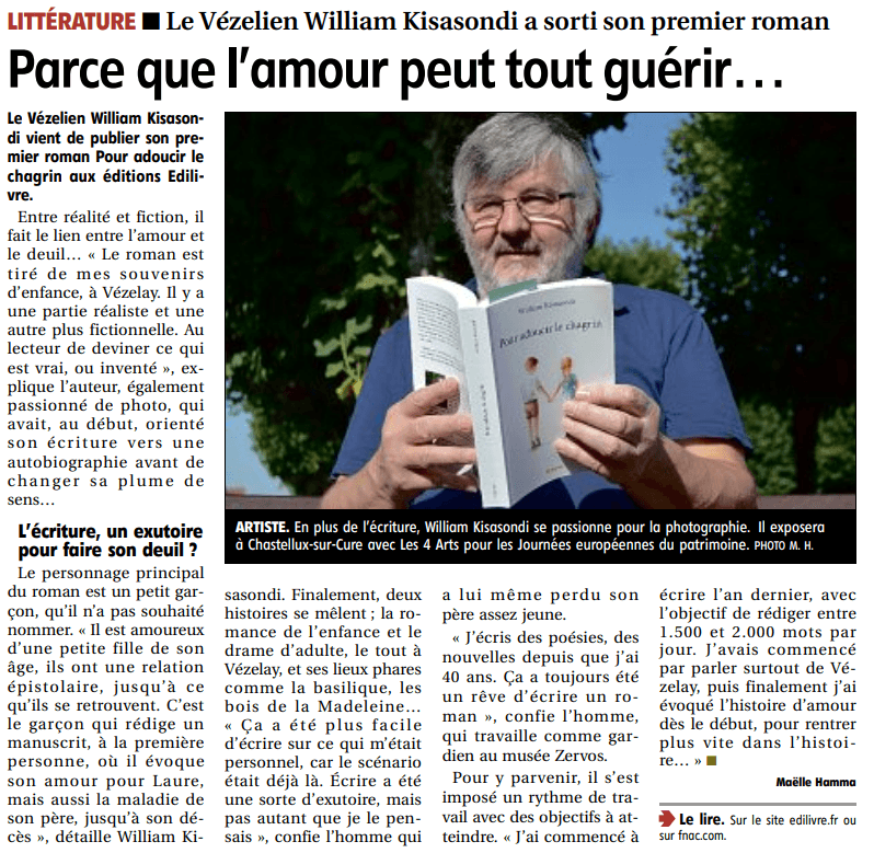 article_L'Yonne_Républicain_William_Kisasondi_2018_Edilivre