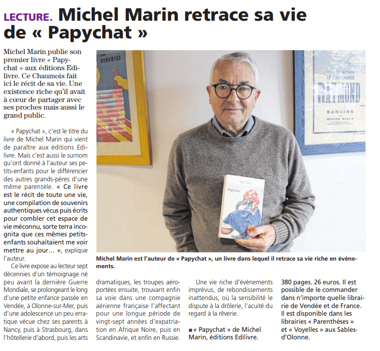 article_Le_Journal_des_Sables_Michel_Marin_2018_Edilivre