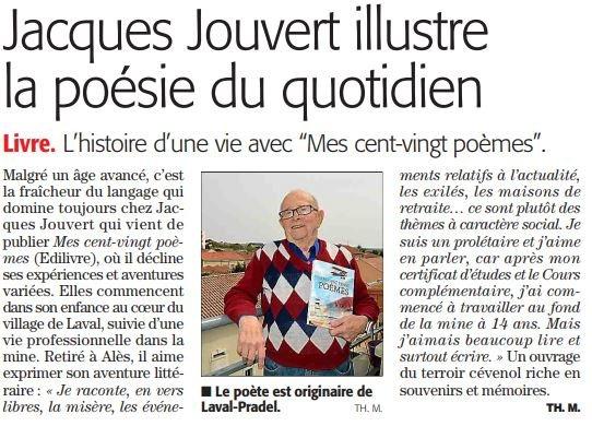 Jacques Jouvert Dans Midi Libre Pour Son Ouvrage Mes Cent