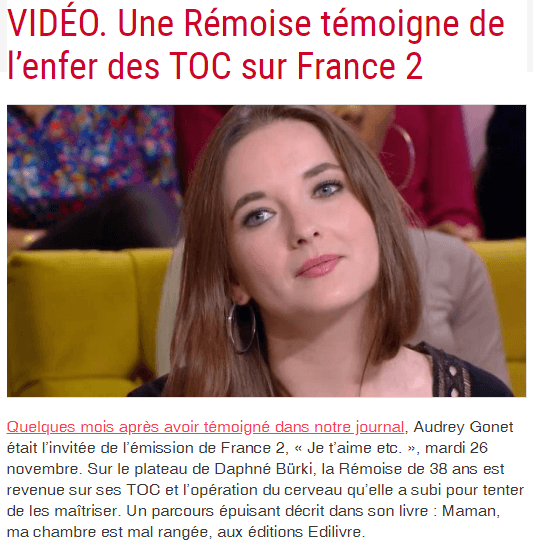 Article_l'union_Audrey_Gonet_ Edilivre_2019