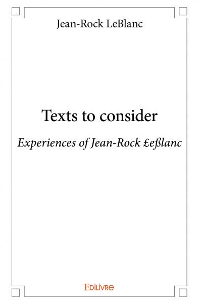 Texts to consider