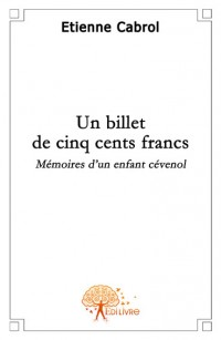 Un billet de cinq cents francs