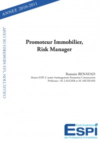 Promoteur Immobilier, Risk Manager.