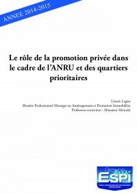 Le rôle de la promotion privée dans le cadre de l'ANRU et des quartiers prioritaires