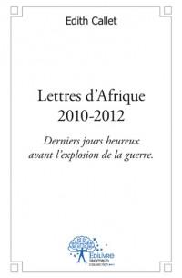 Lettres d'Afrique - 2010 - 2012